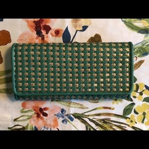 Green and Gold Large Clutch